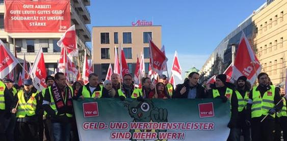 Streikaufruf Geld- und Wertdienste! 02.01.2019